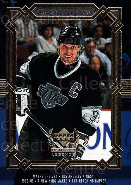 1999-00 UD Century Legends #85 Wayne Gretzky<br/>4 In Stock - $3.00 each - <a href=https://centericecollectibles.foxycart.com/cart?name=1999-00%20UD%20Century%20Legends%20%2385%20Wayne%20Gretzky...&quantity_max=4&price=$3.00&code=81561 class=foxycart> Buy it now! </a>