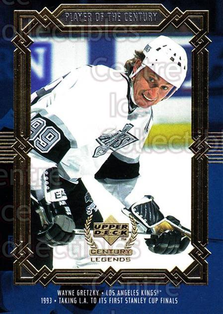 1999-00 UD Century Legends #86 Wayne Gretzky<br/>4 In Stock - $3.00 each - <a href=https://centericecollectibles.foxycart.com/cart?name=1999-00%20UD%20Century%20Legends%20%2386%20Wayne%20Gretzky...&quantity_max=4&price=$3.00&code=81562 class=foxycart> Buy it now! </a>