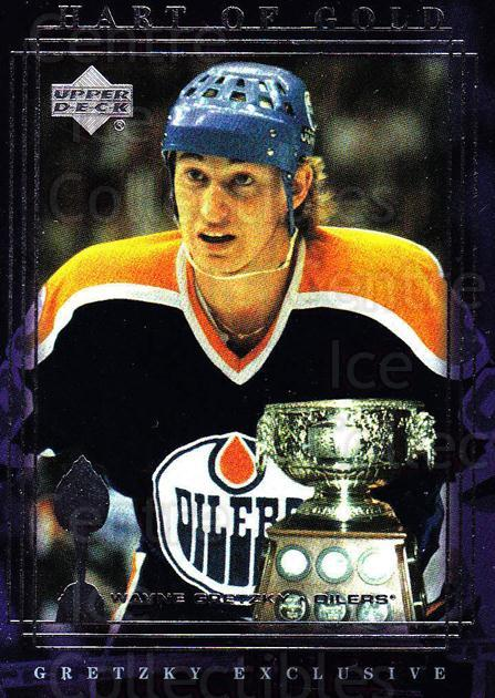 1999-00 Upper Deck Wayne Gretzky Exclusives #39 Wayne Gretzky, Hart Trophy, Art Ross Trophy<br/>5 In Stock - $2.00 each - <a href=https://centericecollectibles.foxycart.com/cart?name=1999-00%20Upper%20Deck%20Wayne%20Gretzky%20Exclusives%20%2339%20Wayne%20Gretzky,%20...&price=$2.00&code=81632 class=foxycart> Buy it now! </a>