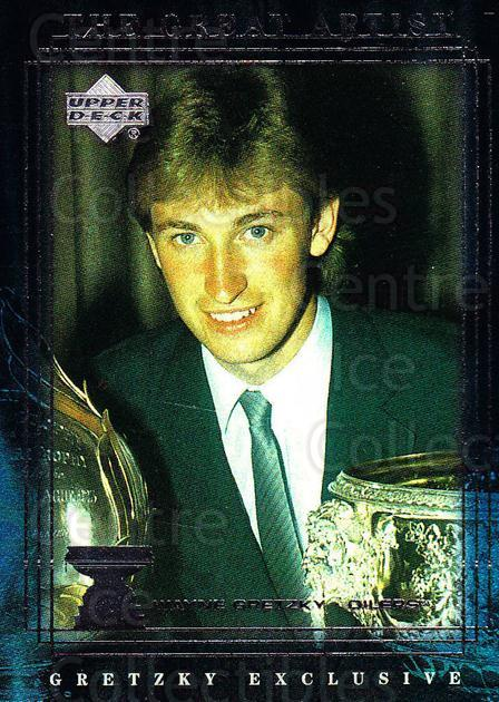 1999-00 Upper Deck Wayne Gretzky Exclusives #48 Wayne Gretzky, Art Ross Trophy<br/>3 In Stock - $2.00 each - <a href=https://centericecollectibles.foxycart.com/cart?name=1999-00%20Upper%20Deck%20Wayne%20Gretzky%20Exclusives%20%2348%20Wayne%20Gretzky,%20...&price=$2.00&code=81635 class=foxycart> Buy it now! </a>