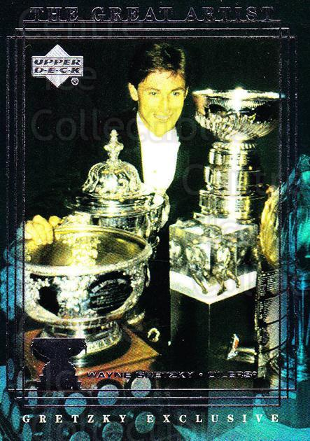 1999-00 Upper Deck Wayne Gretzky Exclusives #54 Wayne Gretzky, Art Ross Trophy, Stanley Cup<br/>2 In Stock - $2.00 each - <a href=https://centericecollectibles.foxycart.com/cart?name=1999-00%20Upper%20Deck%20Wayne%20Gretzky%20Exclusives%20%2354%20Wayne%20Gretzky,%20...&price=$2.00&code=81639 class=foxycart> Buy it now! </a>