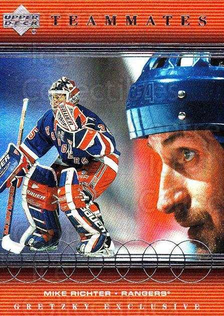 1999-00 Upper Deck Wayne Gretzky Exclusives #68 Wayne Gretzky, Mike Richter<br/>1 In Stock - $3.00 each - <a href=https://centericecollectibles.foxycart.com/cart?name=1999-00%20Upper%20Deck%20Wayne%20Gretzky%20Exclusives%20%2368%20Wayne%20Gretzky,%20...&quantity_max=1&price=$3.00&code=81645 class=foxycart> Buy it now! </a>