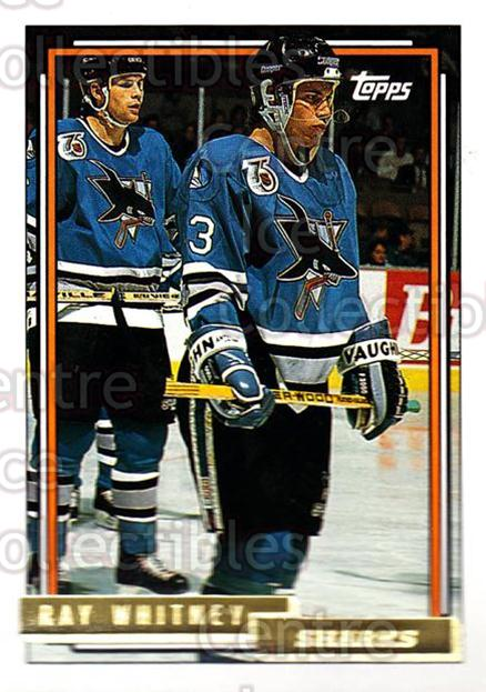 1992-93 Topps Gold #205 Ray Whitney<br/>5 In Stock - $2.00 each - <a href=https://centericecollectibles.foxycart.com/cart?name=1992-93%20Topps%20Gold%20%23205%20Ray%20Whitney...&quantity_max=5&price=$2.00&code=8166 class=foxycart> Buy it now! </a>