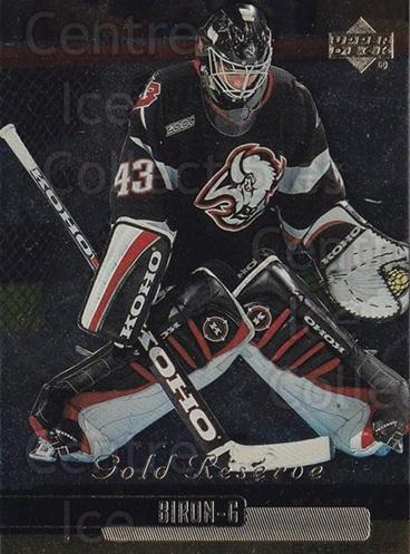 1999-00 Upper Deck Gold Reserve #188 Martin Biron<br/>6 In Stock - $1.00 each - <a href=https://centericecollectibles.foxycart.com/cart?name=1999-00%20Upper%20Deck%20Gold%20Reserve%20%23188%20Martin%20Biron...&quantity_max=6&price=$1.00&code=81754 class=foxycart> Buy it now! </a>