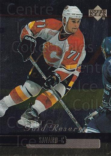 1999-00 Upper Deck Gold Reserve #196 Marc Savard<br/>10 In Stock - $1.00 each - <a href=https://centericecollectibles.foxycart.com/cart?name=1999-00%20Upper%20Deck%20Gold%20Reserve%20%23196%20Marc%20Savard...&quantity_max=10&price=$1.00&code=81762 class=foxycart> Buy it now! </a>