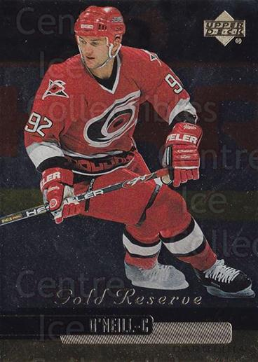 1999-00 Upper Deck Gold Reserve #200 Jeff O'Neill<br/>5 In Stock - $1.00 each - <a href=https://centericecollectibles.foxycart.com/cart?name=1999-00%20Upper%20Deck%20Gold%20Reserve%20%23200%20Jeff%20O'Neill...&quantity_max=5&price=$1.00&code=81767 class=foxycart> Buy it now! </a>