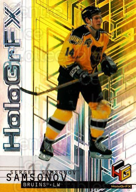 1999-00 Upper Deck HoloGrFx #4 Sergei Samsonov<br/>10 In Stock - $1.00 each - <a href=https://centericecollectibles.foxycart.com/cart?name=1999-00%20Upper%20Deck%20HoloGrFx%20%234%20Sergei%20Samsonov...&quantity_max=10&price=$1.00&code=81886 class=foxycart> Buy it now! </a>
