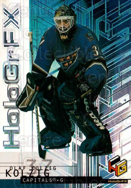 1999-00 Upper Deck HoloGrFx #60 Olaf Kolzig<br/>8 In Stock - $1.00 each - <a href=https://centericecollectibles.foxycart.com/cart?name=1999-00%20Upper%20Deck%20HoloGrFx%20%2360%20Olaf%20Kolzig...&quantity_max=8&price=$1.00&code=81909 class=foxycart> Buy it now! </a>