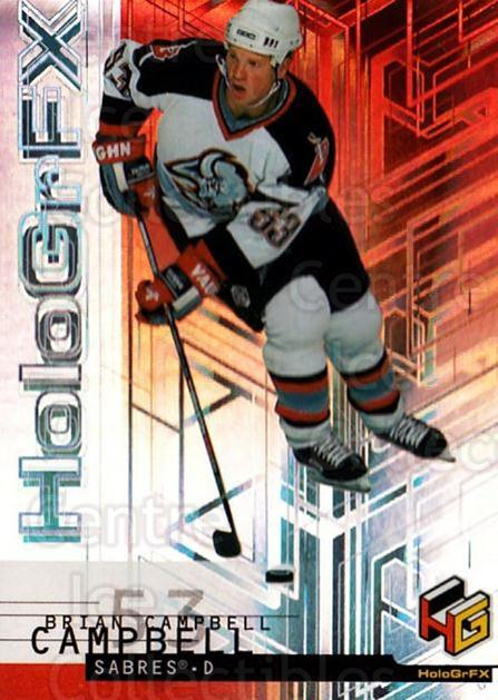 1999-00 Upper Deck HoloGrFx #7 Brian Campbell<br/>8 In Stock - $1.00 each - <a href=https://centericecollectibles.foxycart.com/cart?name=1999-00%20Upper%20Deck%20HoloGrFx%20%237%20Brian%20Campbell...&quantity_max=8&price=$1.00&code=81910 class=foxycart> Buy it now! </a>