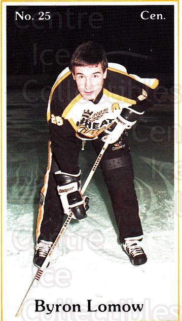 1984-85 Brandon Wheat Kings #3 Byron Lomow<br/>5 In Stock - $3.00 each - <a href=https://centericecollectibles.foxycart.com/cart?name=1984-85%20Brandon%20Wheat%20Kings%20%233%20Byron%20Lomow...&quantity_max=5&price=$3.00&code=81 class=foxycart> Buy it now! </a>
