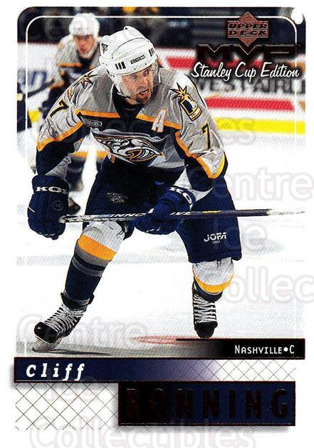 1999-00 Upper Deck MVP SC Edition #100 Cliff Ronning<br/>4 In Stock - $1.00 each - <a href=https://centericecollectibles.foxycart.com/cart?name=1999-00%20Upper%20Deck%20MVP%20SC%20Edition%20%23100%20Cliff%20Ronning...&quantity_max=4&price=$1.00&code=82223 class=foxycart> Buy it now! </a>