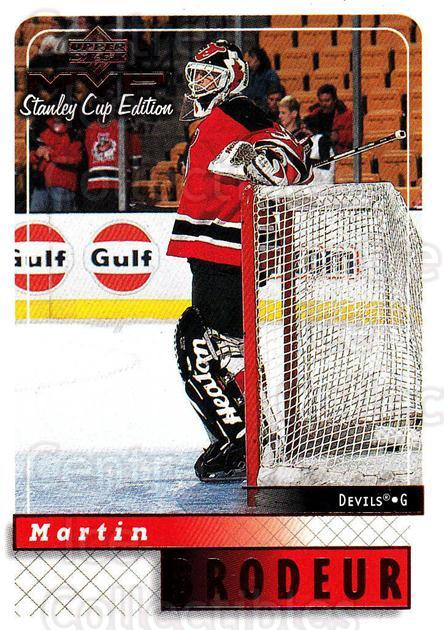 1999-00 Upper Deck MVP SC Edition #104 Martin Brodeur<br/>2 In Stock - $2.00 each - <a href=https://centericecollectibles.foxycart.com/cart?name=1999-00%20Upper%20Deck%20MVP%20SC%20Edition%20%23104%20Martin%20Brodeur...&quantity_max=2&price=$2.00&code=82227 class=foxycart> Buy it now! </a>