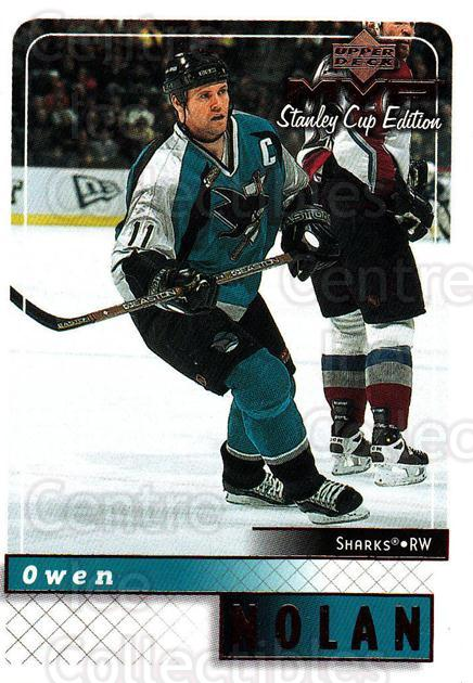 1999-00 Upper Deck MVP SC Edition #153 Owen Nolan<br/>4 In Stock - $1.00 each - <a href=https://centericecollectibles.foxycart.com/cart?name=1999-00%20Upper%20Deck%20MVP%20SC%20Edition%20%23153%20Owen%20Nolan...&quantity_max=4&price=$1.00&code=82281 class=foxycart> Buy it now! </a>