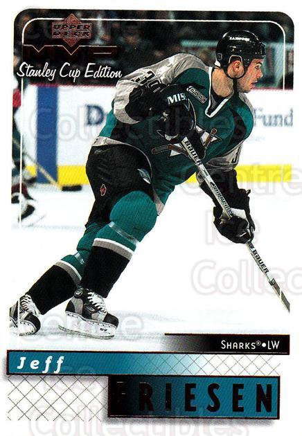 1999-00 Upper Deck MVP SC Edition #154 Jeff Friesen<br/>4 In Stock - $1.00 each - <a href=https://centericecollectibles.foxycart.com/cart?name=1999-00%20Upper%20Deck%20MVP%20SC%20Edition%20%23154%20Jeff%20Friesen...&quantity_max=4&price=$1.00&code=82282 class=foxycart> Buy it now! </a>
