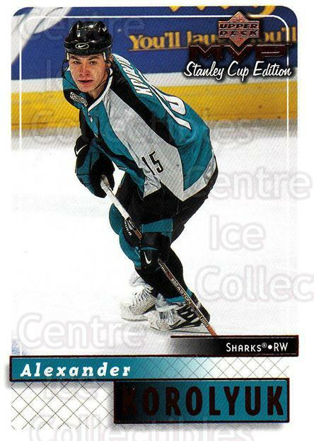 1999-00 Upper Deck MVP SC Edition #158 Alexander Korolyuk<br/>3 In Stock - $1.00 each - <a href=https://centericecollectibles.foxycart.com/cart?name=1999-00%20Upper%20Deck%20MVP%20SC%20Edition%20%23158%20Alexander%20Korol...&quantity_max=3&price=$1.00&code=82286 class=foxycart> Buy it now! </a>