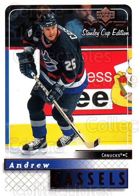 1999-00 Upper Deck MVP SC Edition #185 Andrew Cassels<br/>4 In Stock - $1.00 each - <a href=https://centericecollectibles.foxycart.com/cart?name=1999-00%20Upper%20Deck%20MVP%20SC%20Edition%20%23185%20Andrew%20Cassels...&quantity_max=4&price=$1.00&code=82316 class=foxycart> Buy it now! </a>