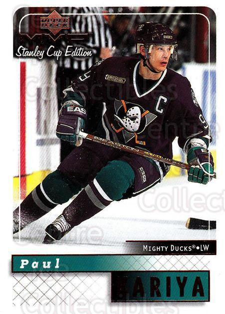 1999-00 Upper Deck MVP SC Edition #2 Paul Kariya<br/>4 In Stock - $1.00 each - <a href=https://centericecollectibles.foxycart.com/cart?name=1999-00%20Upper%20Deck%20MVP%20SC%20Edition%20%232%20Paul%20Kariya...&quantity_max=4&price=$1.00&code=82331 class=foxycart> Buy it now! </a>
