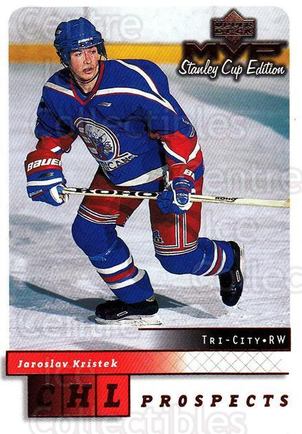 1999-00 Upper Deck MVP SC Edition #201 Jaroslav Kristek<br/>4 In Stock - $1.00 each - <a href=https://centericecollectibles.foxycart.com/cart?name=1999-00%20Upper%20Deck%20MVP%20SC%20Edition%20%23201%20Jaroslav%20Kriste...&quantity_max=4&price=$1.00&code=82333 class=foxycart> Buy it now! </a>