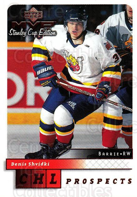 1999-00 Upper Deck MVP SC Edition #212 Denis Shvidki<br/>2 In Stock - $1.00 each - <a href=https://centericecollectibles.foxycart.com/cart?name=1999-00%20Upper%20Deck%20MVP%20SC%20Edition%20%23212%20Denis%20Shvidki...&quantity_max=2&price=$1.00&code=82345 class=foxycart> Buy it now! </a>