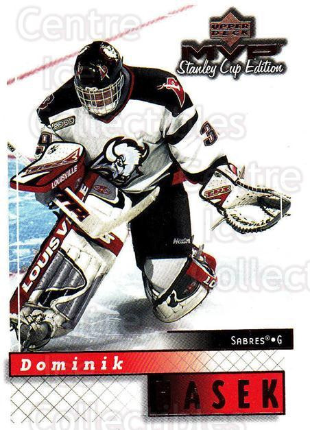 1999-00 Upper Deck MVP SC Edition #22 Dominik Hasek<br/>4 In Stock - $1.00 each - <a href=https://centericecollectibles.foxycart.com/cart?name=1999-00%20Upper%20Deck%20MVP%20SC%20Edition%20%2322%20Dominik%20Hasek...&quantity_max=4&price=$1.00&code=82353 class=foxycart> Buy it now! </a>