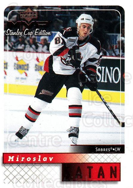 1999-00 Upper Deck MVP SC Edition #23 Miroslav Satan<br/>4 In Stock - $1.00 each - <a href=https://centericecollectibles.foxycart.com/cart?name=1999-00%20Upper%20Deck%20MVP%20SC%20Edition%20%2323%20Miroslav%20Satan...&quantity_max=4&price=$1.00&code=82355 class=foxycart> Buy it now! </a>