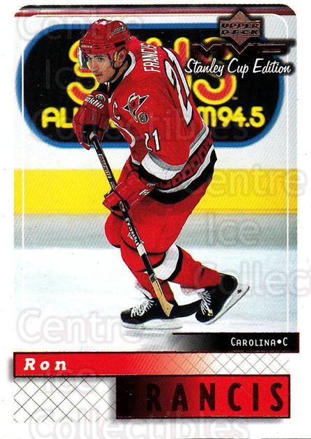 1999-00 Upper Deck MVP SC Edition #36 Ron Francis<br/>3 In Stock - $1.00 each - <a href=https://centericecollectibles.foxycart.com/cart?name=1999-00%20Upper%20Deck%20MVP%20SC%20Edition%20%2336%20Ron%20Francis...&quantity_max=3&price=$1.00&code=82369 class=foxycart> Buy it now! </a>