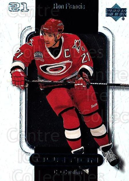 1999-00 UD Ovation #11 Ron Francis<br/>7 In Stock - $1.00 each - <a href=https://centericecollectibles.foxycart.com/cart?name=1999-00%20UD%20Ovation%20%2311%20Ron%20Francis...&quantity_max=7&price=$1.00&code=82556 class=foxycart> Buy it now! </a>