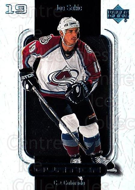 1999-00 UD Ovation #17 Joe Sakic<br/>7 In Stock - $2.00 each - <a href=https://centericecollectibles.foxycart.com/cart?name=1999-00%20UD%20Ovation%20%2317%20Joe%20Sakic...&quantity_max=7&price=$2.00&code=82562 class=foxycart> Buy it now! </a>