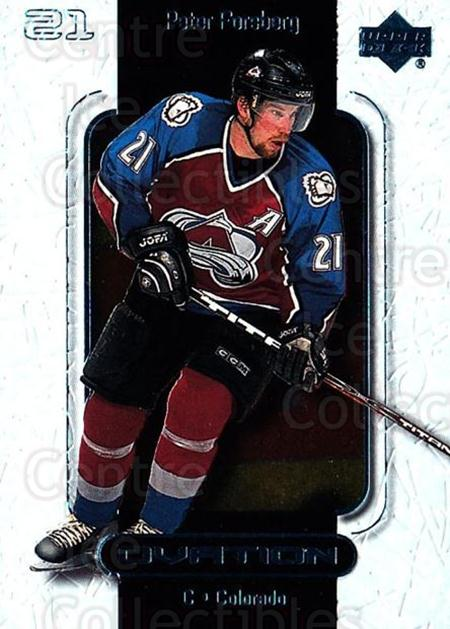 1999-00 UD Ovation #18 Peter Forsberg<br/>7 In Stock - $1.00 each - <a href=https://centericecollectibles.foxycart.com/cart?name=1999-00%20UD%20Ovation%20%2318%20Peter%20Forsberg...&quantity_max=7&price=$1.00&code=82563 class=foxycart> Buy it now! </a>