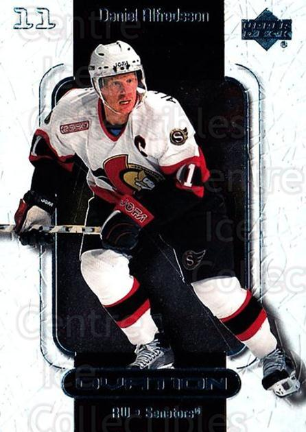 1999-00 UD Ovation #40 Daniel Alfredsson<br/>7 In Stock - $1.00 each - <a href=https://centericecollectibles.foxycart.com/cart?name=1999-00%20UD%20Ovation%20%2340%20Daniel%20Alfredss...&quantity_max=7&price=$1.00&code=82586 class=foxycart> Buy it now! </a>
