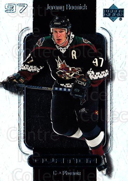 1999-00 UD Ovation #45 Jeremy Roenick<br/>7 In Stock - $1.00 each - <a href=https://centericecollectibles.foxycart.com/cart?name=1999-00%20UD%20Ovation%20%2345%20Jeremy%20Roenick...&quantity_max=7&price=$1.00&code=82591 class=foxycart> Buy it now! </a>