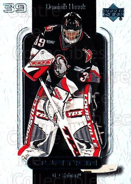 1999-00 UD Ovation #6 Dominik Hasek<br/>7 In Stock - $1.00 each - <a href=https://centericecollectibles.foxycart.com/cart?name=1999-00%20UD%20Ovation%20%236%20Dominik%20Hasek...&quantity_max=7&price=$1.00&code=82607 class=foxycart> Buy it now! </a>
