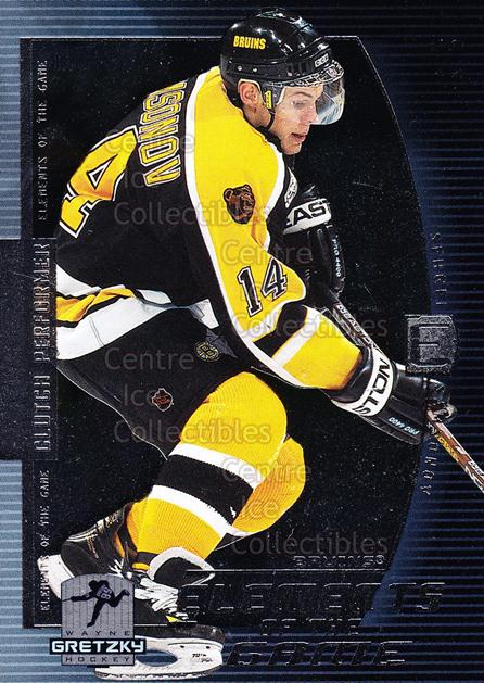 1999-00 Wayne Gretzky Hockey Elements of the Game #3 Sergei Samsonov<br/>9 In Stock - $2.00 each - <a href=https://centericecollectibles.foxycart.com/cart?name=1999-00%20Wayne%20Gretzky%20Hockey%20Elements%20of%20the%20Game%20%233%20Sergei%20Samsonov...&quantity_max=9&price=$2.00&code=82862 class=foxycart> Buy it now! </a>