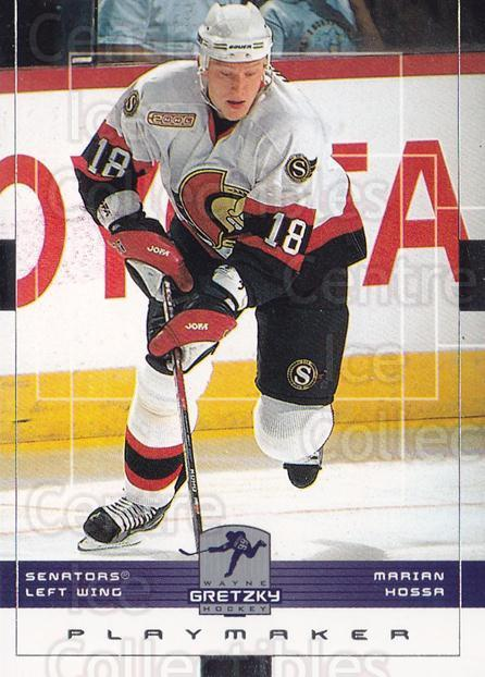 1999-00 Wayne Gretzky Hockey #116 Marian Hossa<br/>7 In Stock - $1.00 each - <a href=https://centericecollectibles.foxycart.com/cart?name=1999-00%20Wayne%20Gretzky%20Hockey%20%23116%20Marian%20Hossa...&quantity_max=7&price=$1.00&code=82916 class=foxycart> Buy it now! </a>