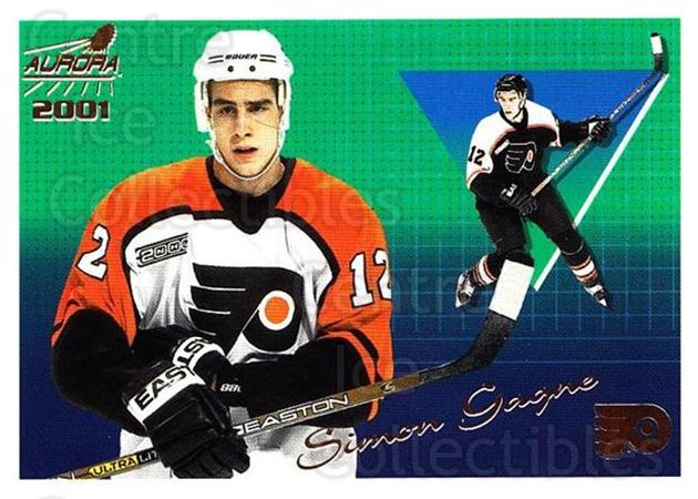 2000-01 Aurora #106 Simon Gagne<br/>5 In Stock - $1.00 each - <a href=https://centericecollectibles.foxycart.com/cart?name=2000-01%20Aurora%20%23106%20Simon%20Gagne...&quantity_max=5&price=$1.00&code=83157 class=foxycart> Buy it now! </a>