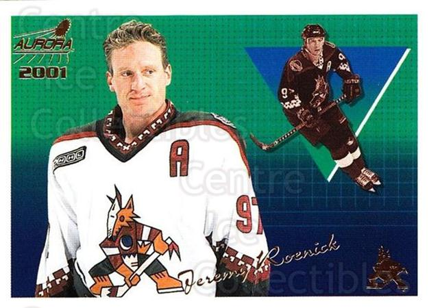 2000-01 Aurora #112 Jeremy Roenick<br/>8 In Stock - $1.00 each - <a href=https://centericecollectibles.foxycart.com/cart?name=2000-01%20Aurora%20%23112%20Jeremy%20Roenick...&quantity_max=8&price=$1.00&code=83164 class=foxycart> Buy it now! </a>