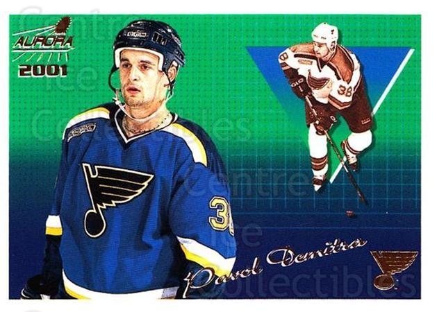 2000-01 Aurora #119 Pavol Demitra<br/>6 In Stock - $1.00 each - <a href=https://centericecollectibles.foxycart.com/cart?name=2000-01%20Aurora%20%23119%20Pavol%20Demitra...&quantity_max=6&price=$1.00&code=83171 class=foxycart> Buy it now! </a>