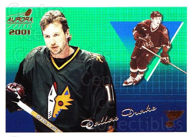 2000-01 Aurora #120 Dallas Drake<br/>8 In Stock - $1.00 each - <a href=https://centericecollectibles.foxycart.com/cart?name=2000-01%20Aurora%20%23120%20Dallas%20Drake...&quantity_max=8&price=$1.00&code=83173 class=foxycart> Buy it now! </a>