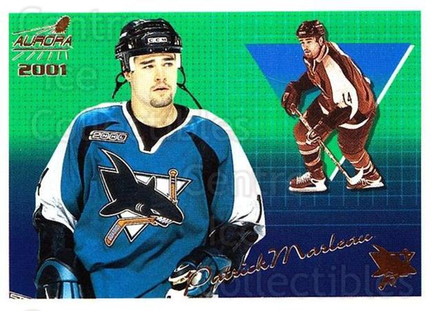 2000-01 Aurora #128 Patrick Marleau<br/>4 In Stock - $1.00 each - <a href=https://centericecollectibles.foxycart.com/cart?name=2000-01%20Aurora%20%23128%20Patrick%20Marleau...&quantity_max=4&price=$1.00&code=83181 class=foxycart> Buy it now! </a>