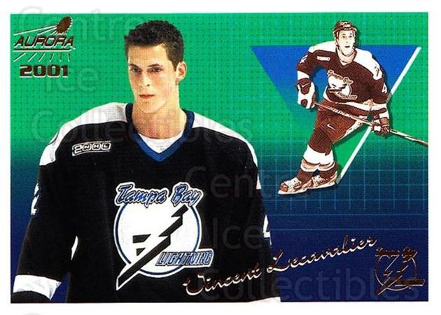 2000-01 Aurora #134 Vincent Lecavalier<br/>8 In Stock - $1.00 each - <a href=https://centericecollectibles.foxycart.com/cart?name=2000-01%20Aurora%20%23134%20Vincent%20Lecaval...&quantity_max=8&price=$1.00&code=83188 class=foxycart> Buy it now! </a>