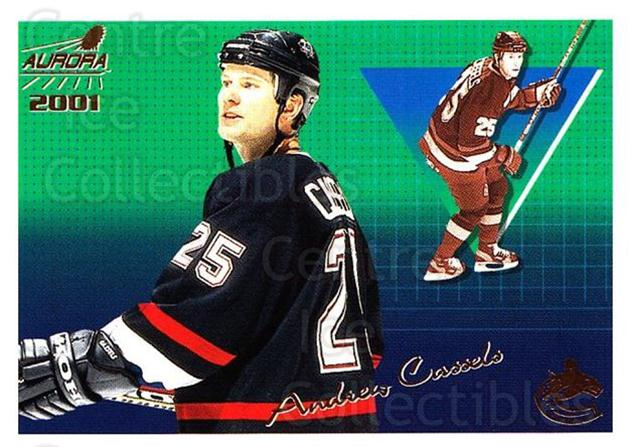 2000-01 Aurora #142 Andrew Cassels<br/>4 In Stock - $1.00 each - <a href=https://centericecollectibles.foxycart.com/cart?name=2000-01%20Aurora%20%23142%20Andrew%20Cassels...&quantity_max=4&price=$1.00&code=83197 class=foxycart> Buy it now! </a>