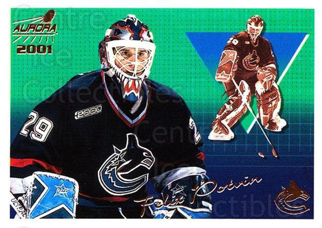 2000-01 Aurora #145 Felix Potvin<br/>7 In Stock - $1.00 each - <a href=https://centericecollectibles.foxycart.com/cart?name=2000-01%20Aurora%20%23145%20Felix%20Potvin...&quantity_max=7&price=$1.00&code=83200 class=foxycart> Buy it now! </a>