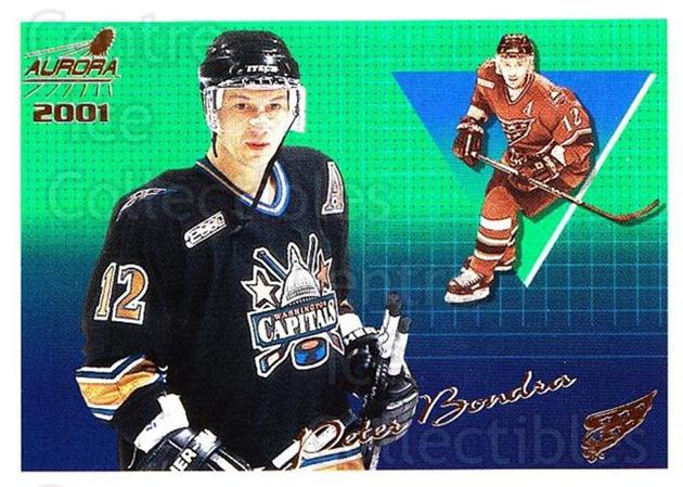 2000-01 Aurora #146 Peter Bondra<br/>9 In Stock - $1.00 each - <a href=https://centericecollectibles.foxycart.com/cart?name=2000-01%20Aurora%20%23146%20Peter%20Bondra...&quantity_max=9&price=$1.00&code=83201 class=foxycart> Buy it now! </a>