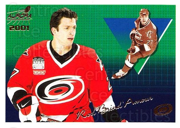 2000-01 Aurora #27 Rod Brind'Amour<br/>5 In Stock - $1.00 each - <a href=https://centericecollectibles.foxycart.com/cart?name=2000-01%20Aurora%20%2327%20Rod%20Brind'Amour...&quantity_max=5&price=$1.00&code=83219 class=foxycart> Buy it now! </a>
