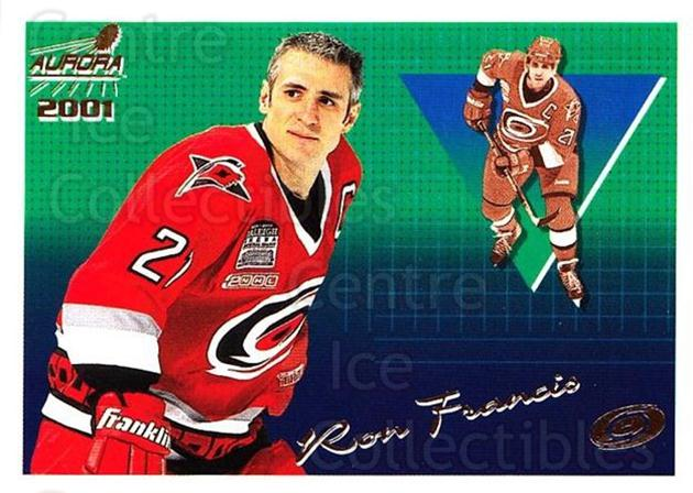 2000-01 Aurora #28 Ron Francis<br/>5 In Stock - $1.00 each - <a href=https://centericecollectibles.foxycart.com/cart?name=2000-01%20Aurora%20%2328%20Ron%20Francis...&quantity_max=5&price=$1.00&code=83220 class=foxycart> Buy it now! </a>