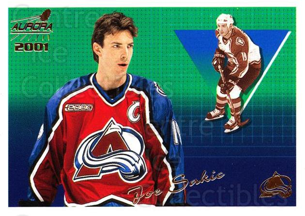 2000-01 Aurora #41 Joe Sakic<br/>4 In Stock - $2.00 each - <a href=https://centericecollectibles.foxycart.com/cart?name=2000-01%20Aurora%20%2341%20Joe%20Sakic...&quantity_max=4&price=$2.00&code=83233 class=foxycart> Buy it now! </a>