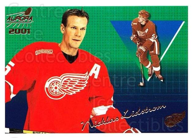 2000-01 Aurora #50 Nicklas Lidstrom<br/>7 In Stock - $1.00 each - <a href=https://centericecollectibles.foxycart.com/cart?name=2000-01%20Aurora%20%2350%20Nicklas%20Lidstro...&quantity_max=7&price=$1.00&code=83243 class=foxycart> Buy it now! </a>