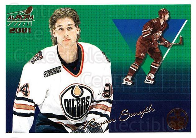 2000-01 Aurora #58 Ryan Smyth<br/>11 In Stock - $1.00 each - <a href=https://centericecollectibles.foxycart.com/cart?name=2000-01%20Aurora%20%2358%20Ryan%20Smyth...&quantity_max=11&price=$1.00&code=83251 class=foxycart> Buy it now! </a>