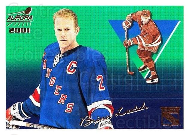 2000-01 Aurora #95 Brian Leetch<br/>5 In Stock - $1.00 each - <a href=https://centericecollectibles.foxycart.com/cart?name=2000-01%20Aurora%20%2395%20Brian%20Leetch...&quantity_max=5&price=$1.00&code=83292 class=foxycart> Buy it now! </a>