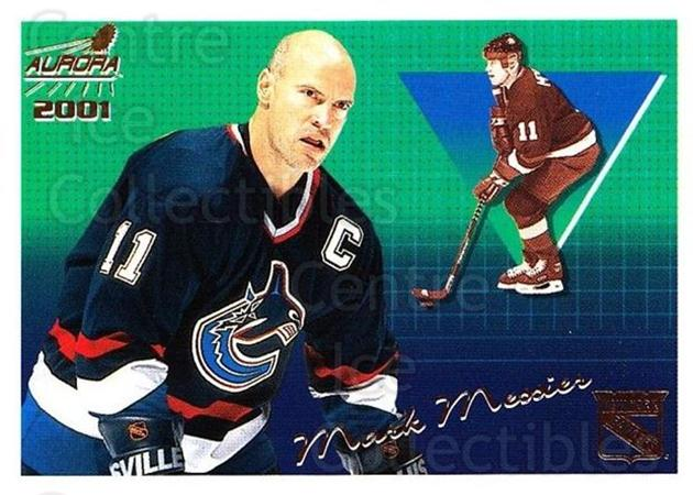 2000-01 Aurora #96 Mark Messier<br/>7 In Stock - $1.00 each - <a href=https://centericecollectibles.foxycart.com/cart?name=2000-01%20Aurora%20%2396%20Mark%20Messier...&quantity_max=7&price=$1.00&code=83293 class=foxycart> Buy it now! </a>